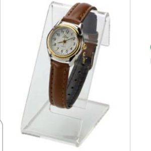 NWT 5 Clear Acrylic Watch Display Easels